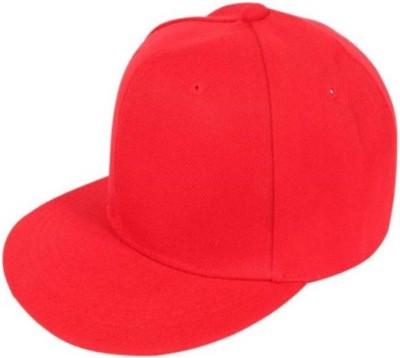 Saifpro Stylish Looks Red Cotton Hip Hop Cap Cap