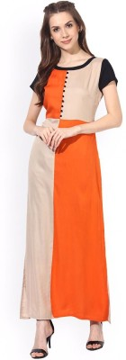 SARYU E-FABRIC Women Gown Orange Dress