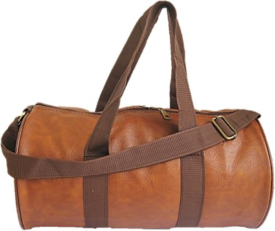 Muccasacra Unmissable Stylish Vintage Mashak finish Weekender Duffel Gym Bag with 3 compartments Gym Bag(Brown)