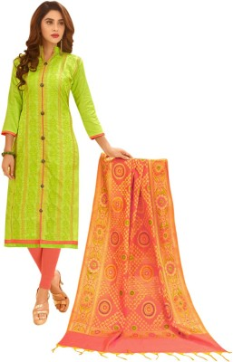 Saara Polycotton Solid, Embroidered Salwar Suit Dupatta Material(Un-stitched)