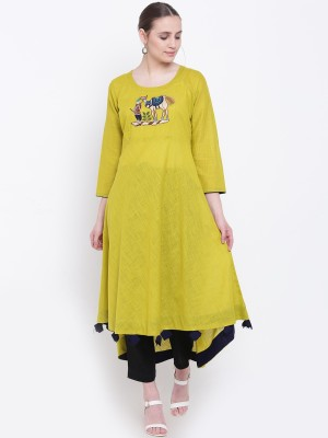 PINKY PARI Solid, Embroidered Women