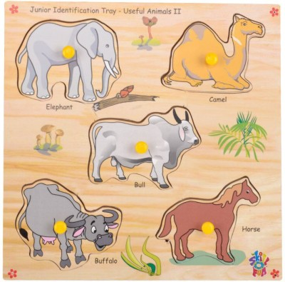 Skillofun Junior Identification Tray Useful Animals II(Multicolor)