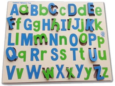 Skillofun Combined Capital and Lower Alphabet Tray Multicolor Skillofun Educational Toys