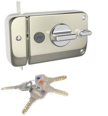 Godrej ULTRA XL + TWINBOLT 1CK DEADBOLT SATIN NICKEL Lock(SATIN NICKEL)