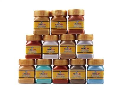 Flash Acrylic Metallic Colours Assorted ( 50 ML )(Set of 1, Metallic)