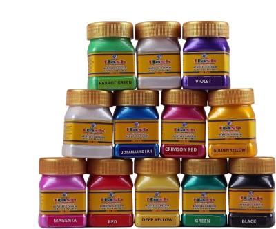 Flash Acrylic Metallic Basic Colours ( 50 ML )(Set of 1, Assorted Basic Metallic)