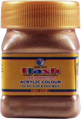Flash Acrylic Bronze Colour ( Code 102 ) 50 ML(Set of 1, Bronze)