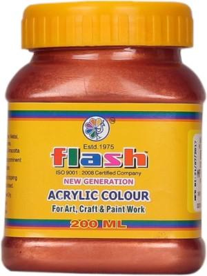 Flash Acrylic Copper Colour ( Code 101 ) 200ML(Set of 1, Copper)