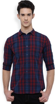 Highlander Men Checkered Casual Blue, Red Shirt