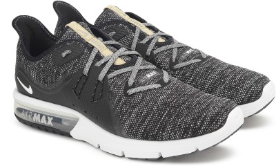 Nike NIKE AIR MAX SEQUENT 3 Running Shoes For Men(Black, Grey) 1