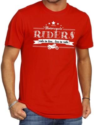 Khopche Printed Men's Round Neck Red T-Shirt