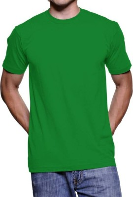 vency creation Solid Men Round Neck Green T-Shirt