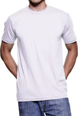 vency creation Solid Men Round Neck White T-Shirt