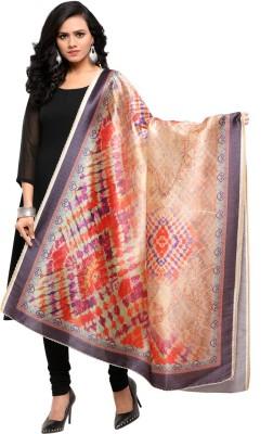 Saara Art Silk Floral Print, Printed Women Dupatta