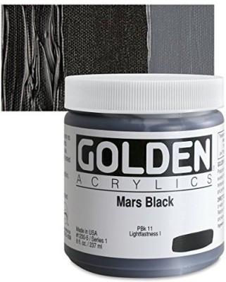 Golden Heavy Body Acrylic Paints 236ML Mars Black(Set of 1, Mars Black)