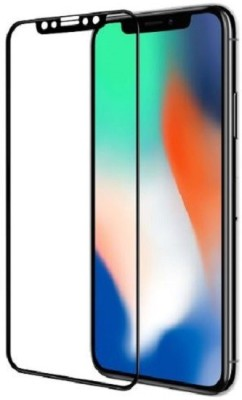 wrapitup Edge To Edge Tempered Glass for Apple Iphone X Full Body 5D Coloured 9H Hardness Anti-Scratch,Case Friendy Tempered Glass [Edge To Edge Screen Covered for iphone 10(Pack of 1)