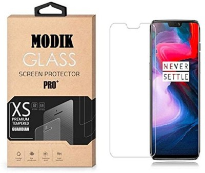 MODIK Tempered Glass Guard for One Plus 6 Tempered Glass Full Glue 2.5D Screen Protector Glass Transparent Clear #1 Best Quality(Pack of 1)
