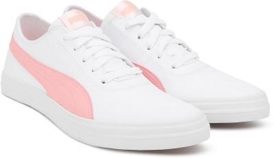 a494f6f8025dfd 35% OFF on Puma Urban SL IDP Puma White-Soft Fluo Peach Sneakers For  Women(White) on Flipkart