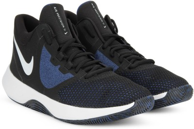 Nike AIR PRECISION II Basketball Shoes For Men(Black, Blue) 1