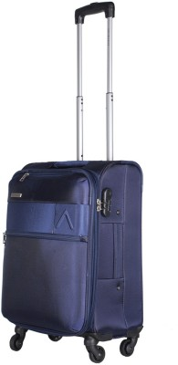 Aristocrat Estate Spinner Soft Trolley 59cm (Blue) Expandable  Cabin Luggage - 22 inch(Blue) at flipkart