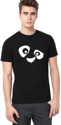 Naasaindiastore Printed Men & Women Round Neck Black T-Shirt