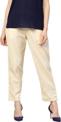 Shree Regular Fit Women White Trousers