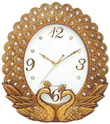 Anant Gift Gallery Analog Wall Clock(COPPER, With Glass)