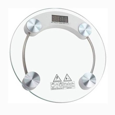MEZIRE ®180 Kg Measure With Heavy Thick Glass Electronic Scale Personal Weighing Scale (White) Weighing Scale(Transparent) Weighing Scale(Transparent)