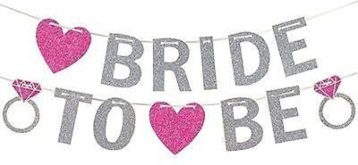 PARTY PROPZ Bride to Be Banner / bachelorette party props for bride / bride to be props / bachelorette decoration / bride to be banner Banner(10 ft, Pack of 1)