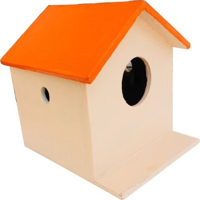 Nature's Wonder Orange Bird House / Nest Box for Sparrows, Munias, Budgies, Finches & small Birds Bird House(Wall Mounting)