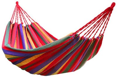 KOBALT ® Basics Single Person Colorful Cotton Hammock(Red, Yellow)