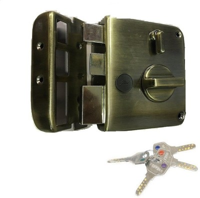 Godrej TRIBOLT ULTRA+XL DEADBOLT ANTIQUE BRASSL 1CK 4 KEYS (FREE INSTALLATION) Lock(ANTIQUE BRASS)