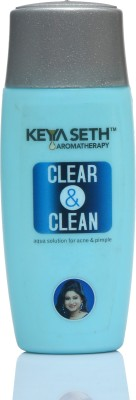 KEYA SETH AROMATHERAPY Clear & Clean Apua Solution for Acne Pimple Pigmentation & Rash- Enriched with Lemongrass & Geranium oil(50...