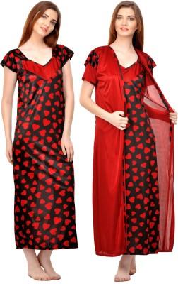 0da4761687 62% OFF on Rowena Women s Nighty with Robe(Multicolor) on Flipkart ...