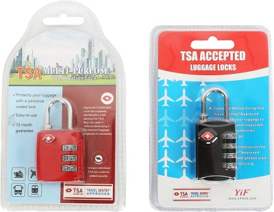 Spectrum Group TSA LOCK for USA Customs, RED & Black, One piece can be purchased. Safety Lock(Black, Red)