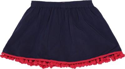 Tickles By Inmark Solid Girls Regular Blue Skirt