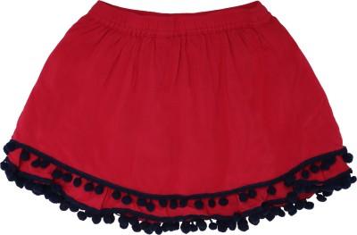 Tickles By Inmark Solid Girls Regular Red Skirt