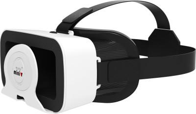 Irusu Mini VR box headset with 42mm HD lenses for all mobiles(Smart Glasses, White)