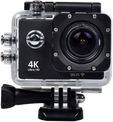 """Piqancy 4K Wifi Cam Waterproof Sport Camera Diving Ultra HD 16MP 30M 170??Adjustable Wide Angle Lens 2"""" LCD Display with Sensor with Rechargeable Batteries Sports and Action Camera(Black 16 MP) 1"""