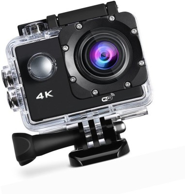 ALONZO 4k Acton Camera 4K Wifi Action Camera Ultra HD 100Feet Waterproof Sport Camera 2 Inch LCD Screen 16MP 170 Degree Wide Angle Rechargeable 900mAh Batteries Sports and Action Camera(Black 16 MP) 1