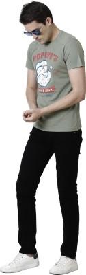 Free Authority Graphic Print Men Round Neck Green T-Shirt