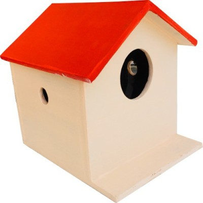 Nature's Wonder Red Bird House / Nest Box for Sparrows, Munias, Budgies, Finches & Small Birds Bird House(Wall Mounting)