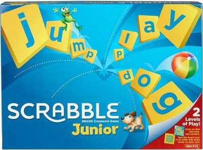 Civil Mattel Scrabble Junior Crossword Board Game-Multicolor Board Game