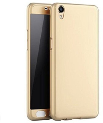 Mighty Design Front & Back Case for Vivo V3 Max(gold, Dual Protection, Plastic, Rubber)