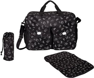 PackNBuy Stylish Big Size White Printed Diaper Bag Diaper Bags for Stylish Mom(Black)