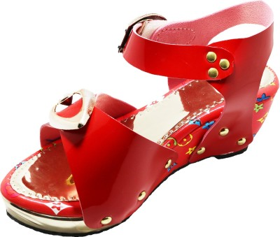 EasySteps Girls Buckle Heels(Red)