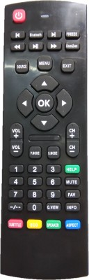 LipiWorld Iconic blutooth LCD LED TV Universal Remote Control Compatible for Iconic LED Remote Controller(Black)
