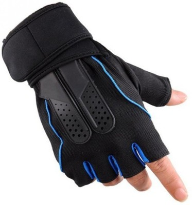 DreamPalace India GYM GLOVES, Gloves For Gym, Gloves For Men, Gym Glove, Workout Gloves, Fitness Gloves, Sport Gloves, Weight Lifting Gloves Gym & Fitness Gloves (Free Size, Blue)