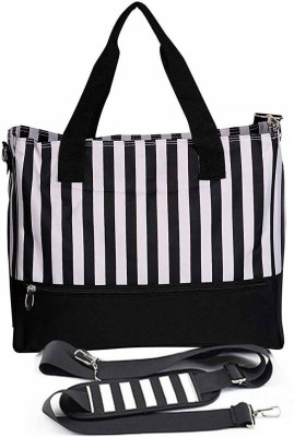 PackNBuy Lined Stylish Diaper Bag with Changing Mat & Bottle Cover Stylish Diaper Bag(Black)