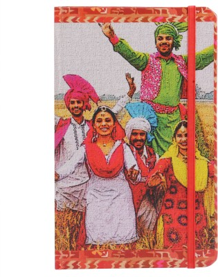 toshakhana with Elastic Closure, Bhangra Dance & Qila Mubarak Punjab India - Indian Dance & Heritage Series A5 Notebook 180 Pages(Multicolor)